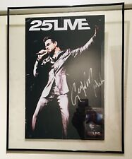 George Michael SIGNED 25live poster 2008 Toronto FRAMED clear w.Pass and COA