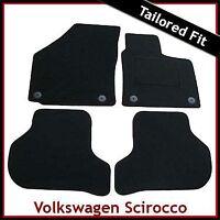VW Volkswagen Scirocco Mk3 2008 onwards Fully Tailored Carpet Car Mats BLACK