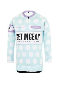 Girls Cycle Jersey, Get In Gear, Polka Dot, Long Sleeved
