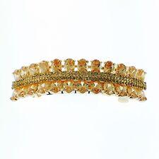 USA BARRETTE use Swarovski Crystal Hair Clip Hairpin Elegant SIMPLE Brown K07