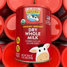 Horizon Organic Dry Whole Milk 30.6 Oz Tin Vitamin A& D and Calcium Added