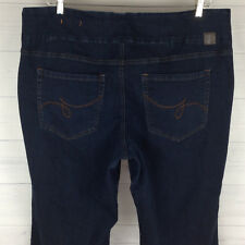 JAG JEANS HIGH RISE BOOT PULL-ON Petite Womens PLUS 24WP STRETCH DARK Wash Jeans