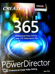 CyberLink Professional Power director 365 Pro video editing package