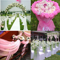 10M Top Table Chair Swags Sheer Organza Fabric Wedding Party Decoration Finest
