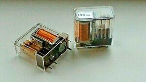 2 PEZZI = RELE' 14V 1SC ISKRA RELAY SERIE TRM  5PIN montaggio PCB