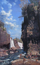 """Great Falls of the Passaic"" - John Buxton Limited Edition Giclee Canvas"