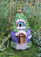 Garden Fairy Leaf Roof House Solar Decorative Ornament Secret Gift