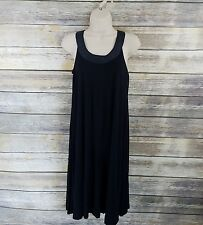 Soma Womens Dress Sz XS Black Lounge Wear Sleeveless Halter Neck Shift Comfy