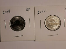 2004 & 2010 Canada 5 cents - Specimen finish in 2x2 holders