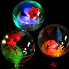 1x Flashing Light Up Spikey High Bouncing Balls Novelty Sensory Smooth Ball