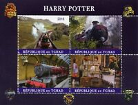 Chad 2018 CTO Harry Potter Hogwarts Express 4v M/S II Trains Movies Film Stamps