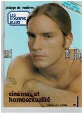 """MAGAZINE """"L HOMOSEXUALITE AU CINEMA"""" (1978) PH. MAZIERES / GAY INTEREST**..."""