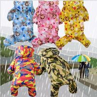 Waterproof Hoodie Raincoat Jumpsuit Cute Pet Dog Rain Coat Jacket Clothes Puppy