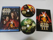 STAR WARS III REVENGE OF THE SITH 2 X DVD + EXTRAS ENGLISH ESPAÑOL REGION 1