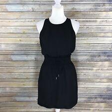 Banana Republic Womens Dress Sz 4 Black Sleeveless Drawstring Drop Waist Casual