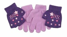 Girls 2 in 1 Magic Grippy Gloves