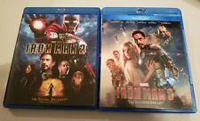 Iron Man 3 (Blu-ray/DVD, 2013, 2-Disc Set) with Iron Man 2 blu ray lot