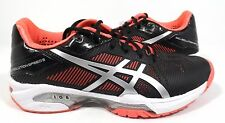 ASICS Women's Gel-Solution Speed 3 Tennis Shoe, Black/Silver/Diva Pink, 5 M US