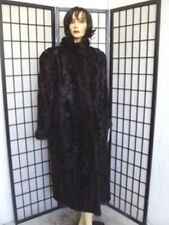 ! EXCELLENT BROWN BLACK LAMB W/MINK FUR COAT JACKET WOMEN WOMAN SIZE 10-12 M