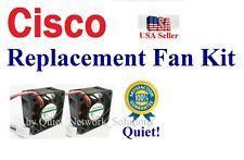 Quiet Version! Cisco ESW-520-24P Fan Kit 2x Sunon 18dBA Noise Best HomeNetwork