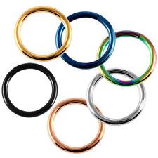 Stainless Steel Seamless Ring Nose Hoop Daith Helix Lip Labret Earring Piercings