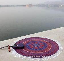 Indian Rotondo Arazzo Mandala Telo Da Parete Telo Spiaggia Stuoia Yoga