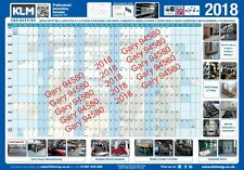 2018 YEAR WALL PLANNER EMAIL E-PLANNER FOR WORK/HOME/OFFICE UNMOUNTED CALENDAR
