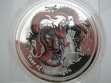 "2012 - AUSTRALIA - PERTH LUNAR -"" YEAR OF THE DRAGON"" - COLORIZED GEM PROOF!!"