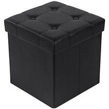 Songmics Tabouret Pouf coffre Boîte de Rangement Repose-pied Cube Siège pliab