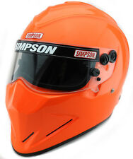 SIMPSON DIAMONDBACK HELMET SNELL SA2015 MSA HANS XS-XXL SAFETY ORANGE HANS FIA