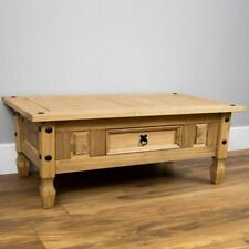 CORONA Coffee Table 1 Drawer Distressed Waxed Mexican Pine by Home Discount6