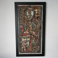 EBRIN ADINGRA PAINTING ABSTRACT MODERNISM EXPRESSIONISM CUBISM VINTAGE PARIS