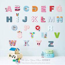 Mickey Minnie Mouse Alphabets Kids Wall Art Stickers Nursery Decor Vinyl Decal