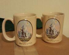 Walt Disney World coffee mugs set of 2 Cinderella's castle Mickey Tinker Bell