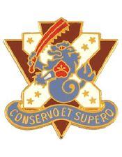 0161 Medical Bn Unit Crest (Conservo Et Supero)