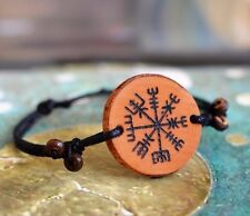 Vegvisir Viking Compass Bracelet Rune Wood Norse Amulet Celtic Odin Asatru