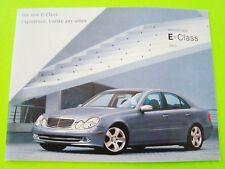 2003 Mercedes Benz E-CLASS BROCHURE Color Catalog 20-pgs E320 / E500 V8 Mint