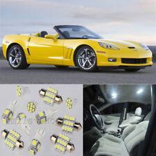 12pcs White Interior Led Light Kit For Chevrolet Corvette C6 2005 2013