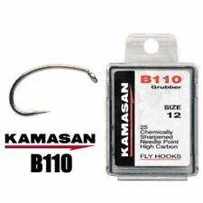 KAMASAN B110 Grubber Trout Fly Tying Hooks Buzzer/nymph Game Fishing All Sizes EB11010 10