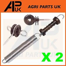 2 x Electric Fence Spring Gate Kit 5m Handle Insulator Screw Poly Fencing Heavy