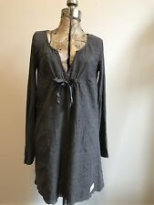 Odd Molly Over The Top Dress Gray Embroidered Size 1 (s)