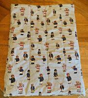 Ralph Lauren Polo Teddy Bear White & Blue Stripes Twin Size Comforter Retired