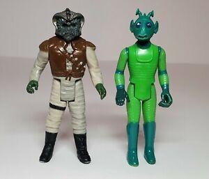 Vintage STAR WARS Kenner original lot  1978 Greedo 1983 Klaatu Nikto skiff guard