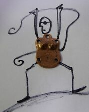 Milagro Charm Chest Plate Piece w/ Holes to Attach Body Parts Copper Toned 1 Pc.