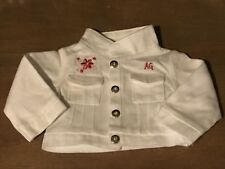 American Girl of Today Licorice Best Friend white jean jacket (NWOB)