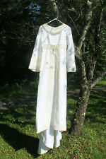 VINTAGE 60S CREAMY WHITE WEDDING DRESS COS PLAY SMALL RUSTIC SALE!!!