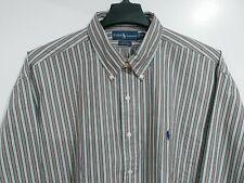 NEW RALPH LAUREN Blake Men's XXL 100% Cotton Button Down Shirt Striped 2XL NWT