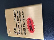 High Capacity Gold Samsung Galaxy S3 I9300 I9305 2850mAh Battery last Longer