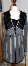 schickes  Kleid / Strickkleid - BIBA - schwarz/weiß - Größe S