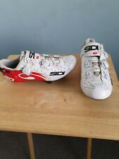 Sidi Wire Carbon Vernice Road Cycling Shoe, White/ Red  Size 42